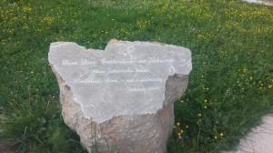 Natpis ispred kuće Dive Grabovčeve